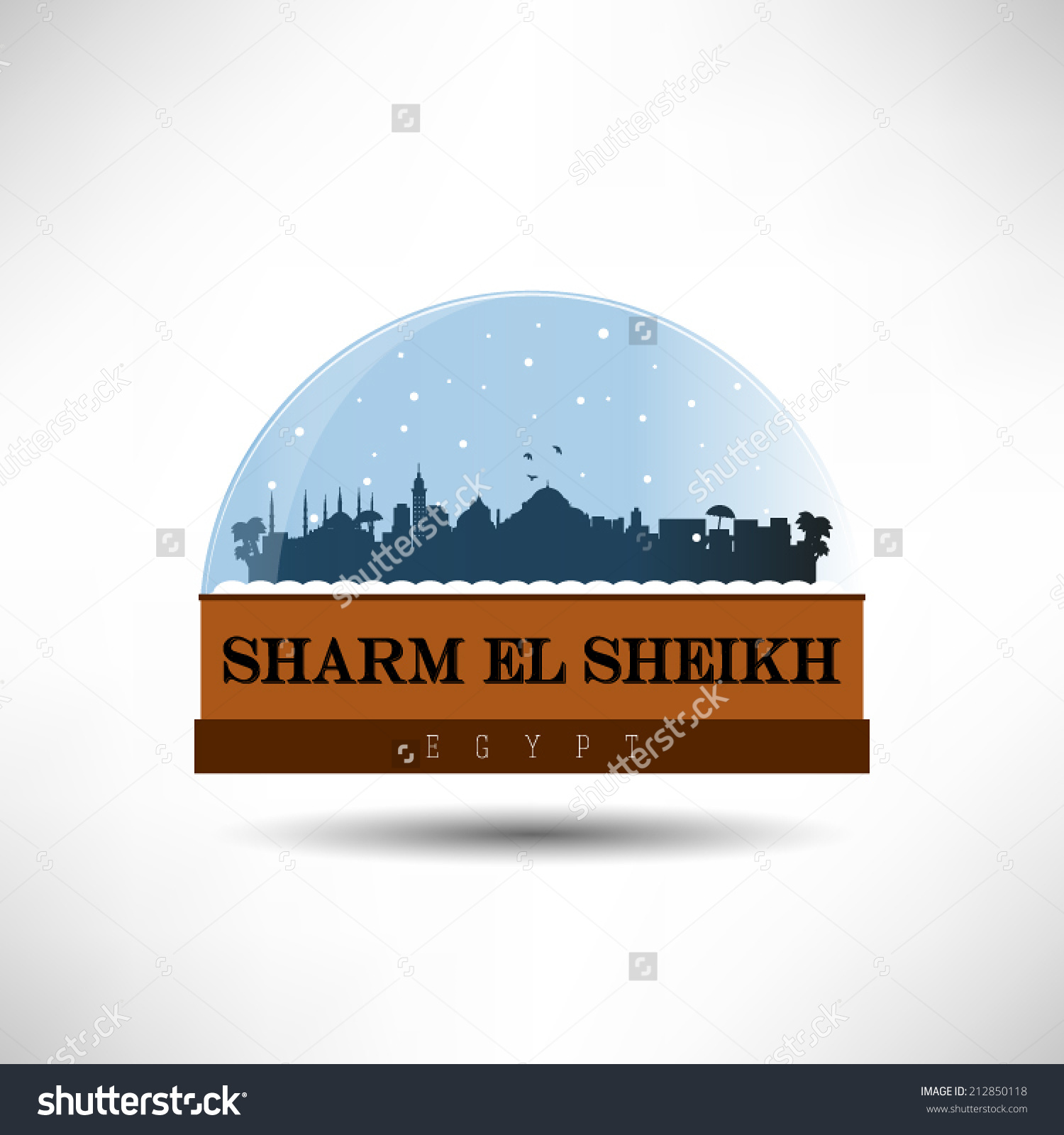 Sharm El Sheikh Egypt City Skyline Stock Vector 212850118.
