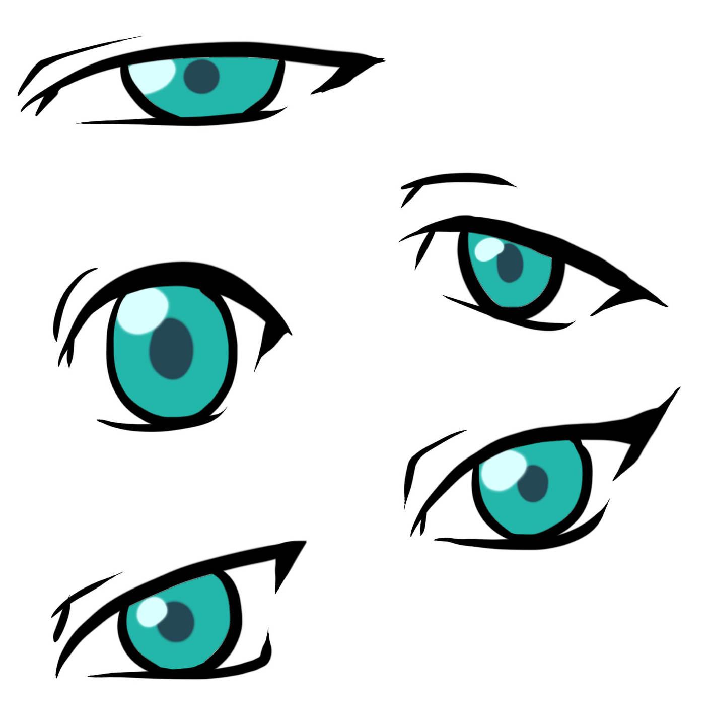 Narrow eyes clipart.