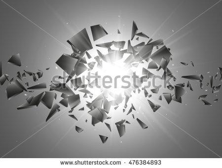 Black Explosion Background Explosion Cloud Black Stock Vector.