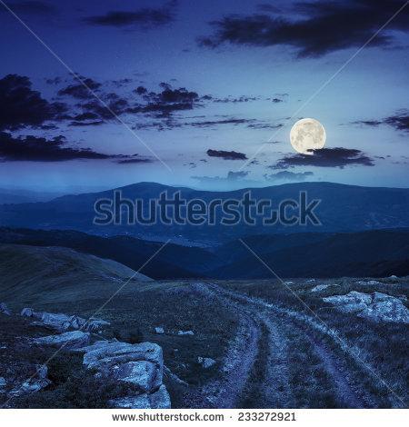 Moon Path Stock Photos, Royalty.