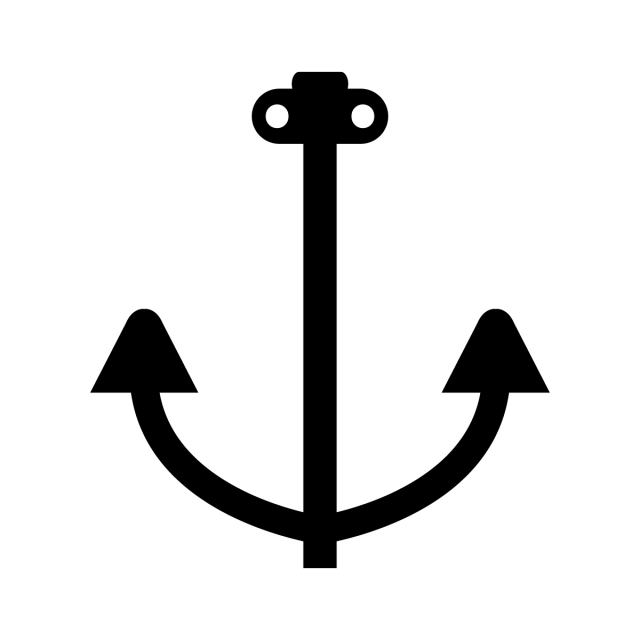 Anchor Icon, Nautical, Sharp, Heavy PNG and Vector with.