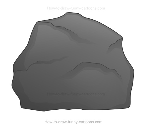 Animated shiny gray rock clipart.