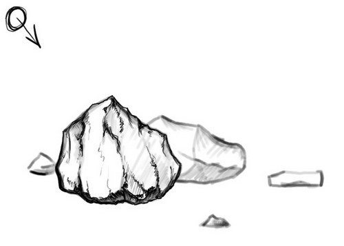 Sharp rock clipart - Clipground
