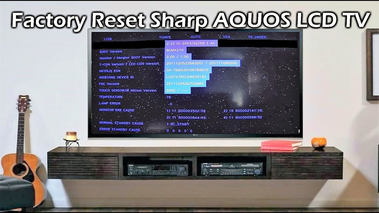 Factory Reset Sharp Aquos LCD TV.