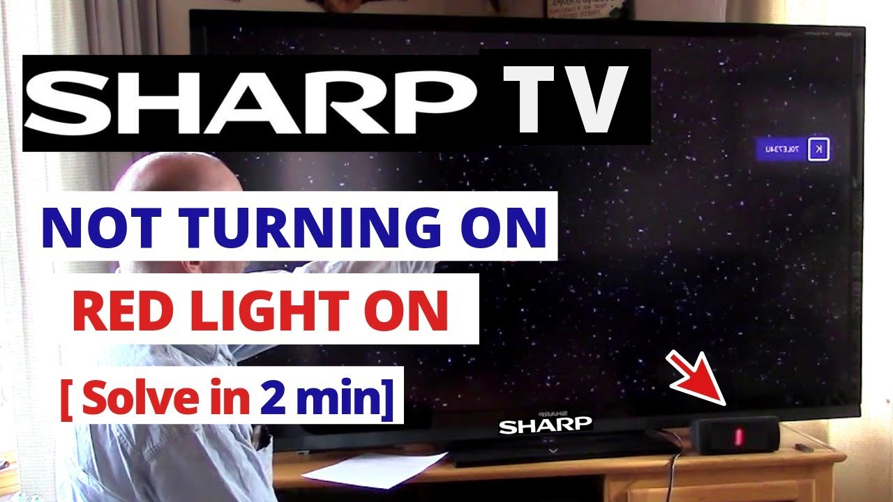 How to Fix Sharp TV Wont Turn On Power Light Blinks.