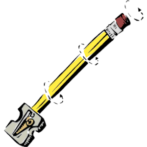 Sharpened pencil clipart.