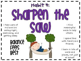 Habit 7: Sharpen the Saw.