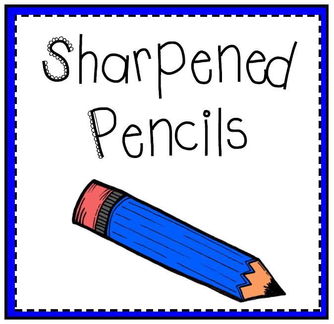 Sharpened pencil clip art.