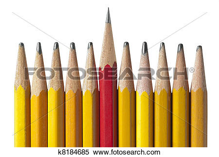 Stock Image of sharpest pencil in the bunch, isola k8184685.