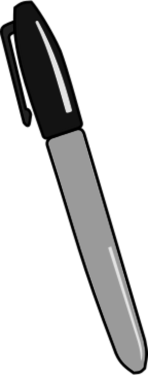 Permanent marker clipart.