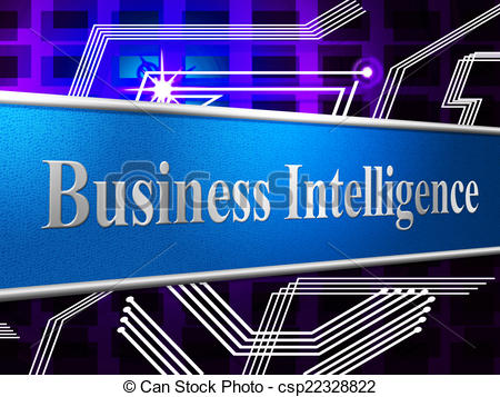 Clip Art of Business Intelligence Shows Brains Sharpness And.