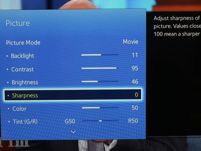 Why you need to turn down your TV's sharpness control.