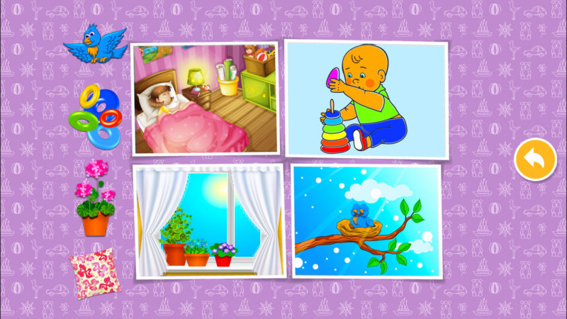 Eat & home: learning games for baby & kids puzzles.