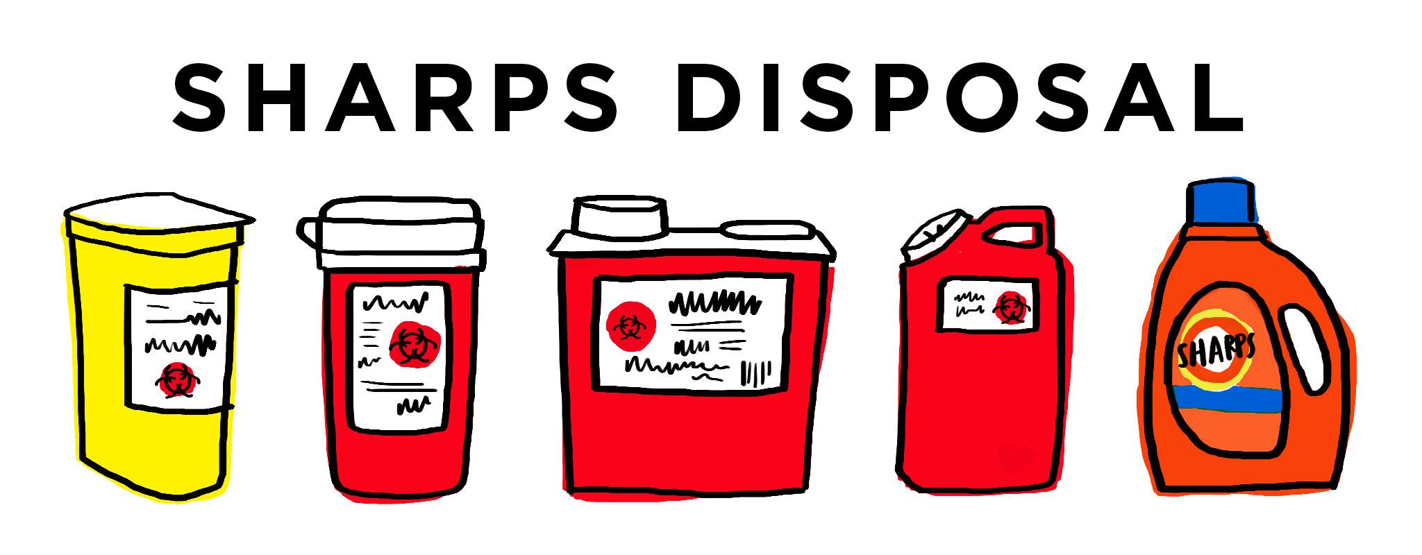 Sharps Disposal.