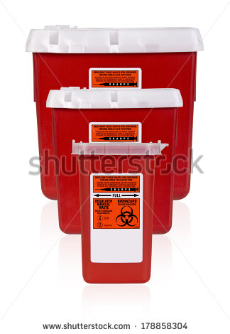 Sharps Container Stock Images, Royalty.