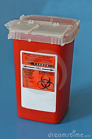 Sharps Container For Needles Stock Image.