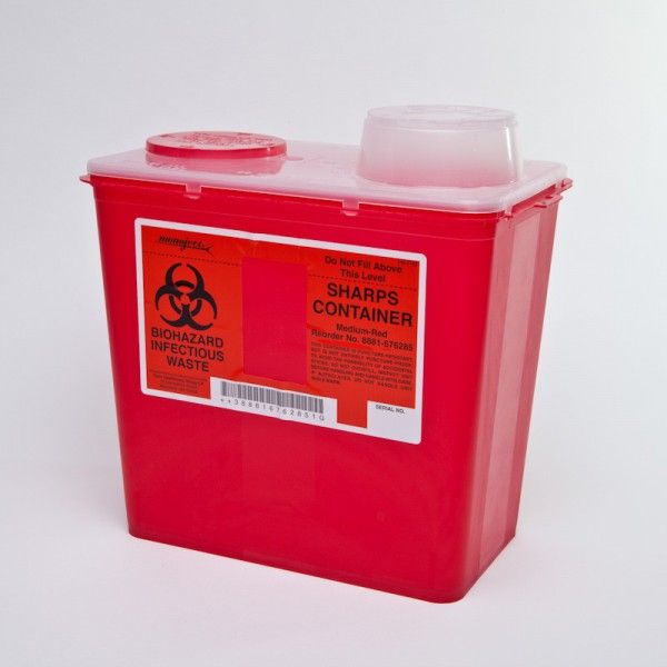 KENDALMONOJECT SHARPS CONTAINERS 8 QT.