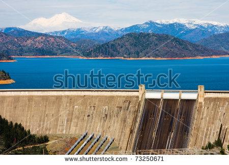 Shasta Dam Stock Photos, Royalty.