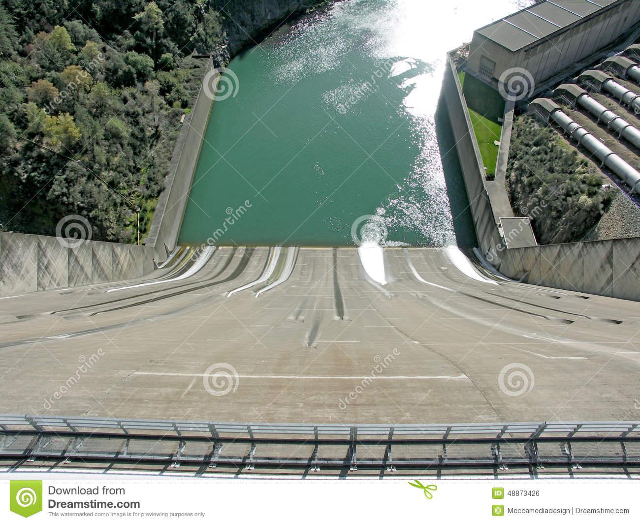 Spillway For Shasta Dam Stock Photo.