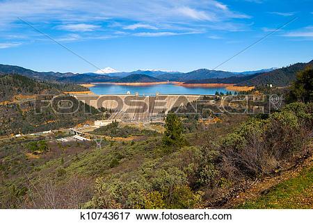 Picture of Shasta Dam California k10743617.