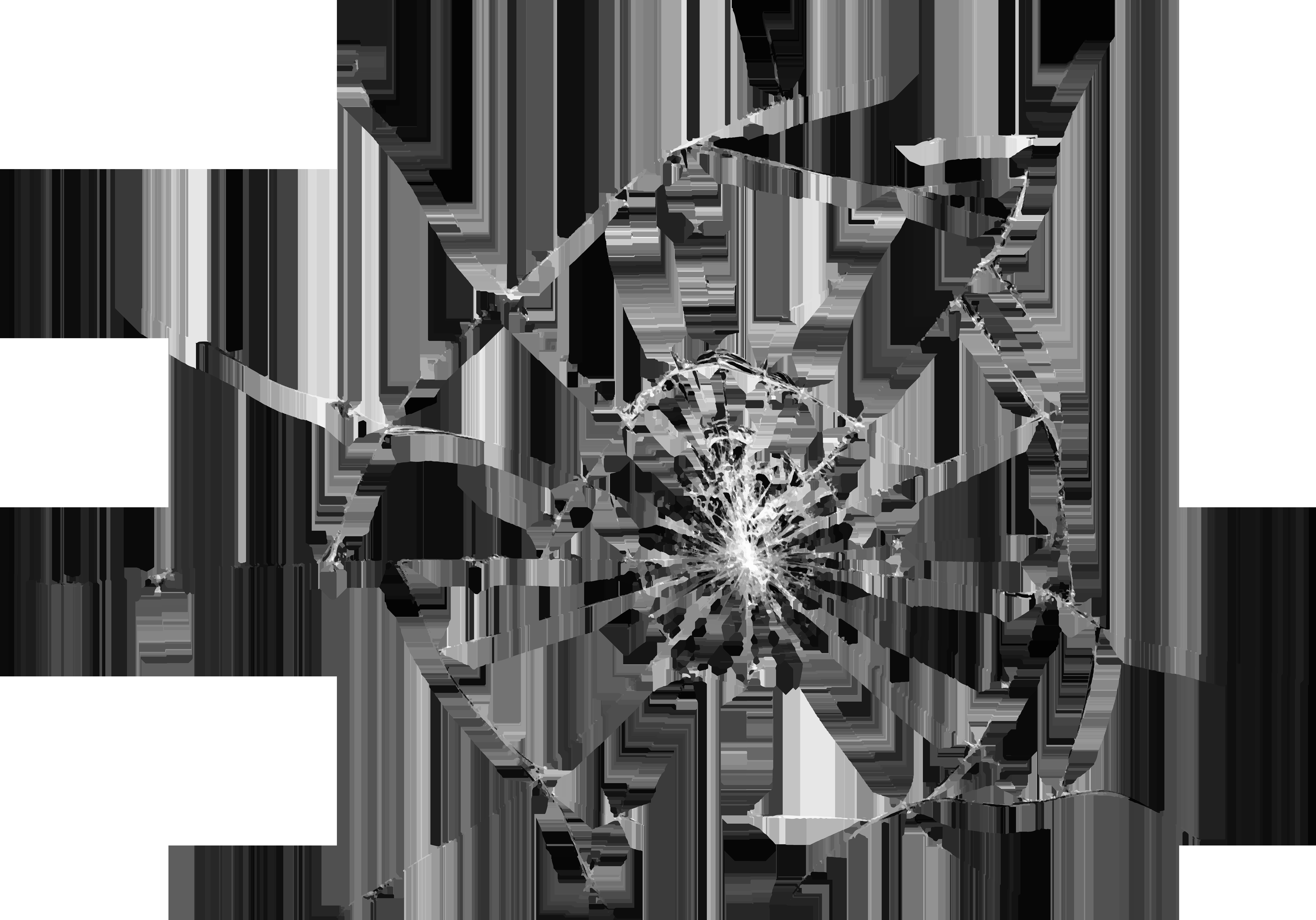 Broken Glass Effect Transparent PNG Clip Art Image.