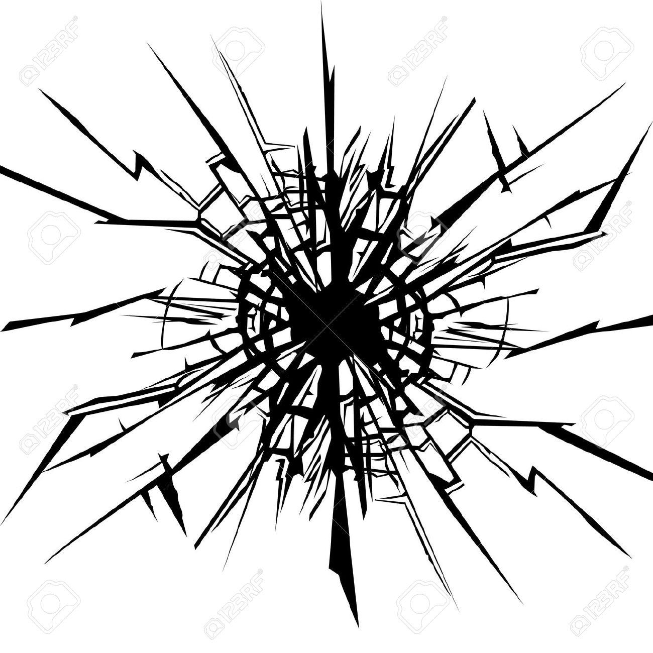 Broken Glass Clipart.