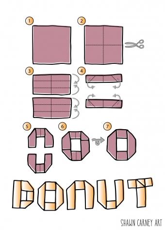 Donut Origami.