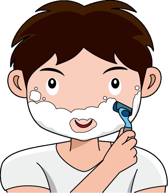 Shaving Beard Clipart.