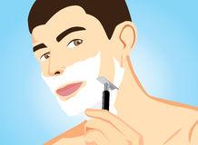 Shaving Foam Stock Illustrations.