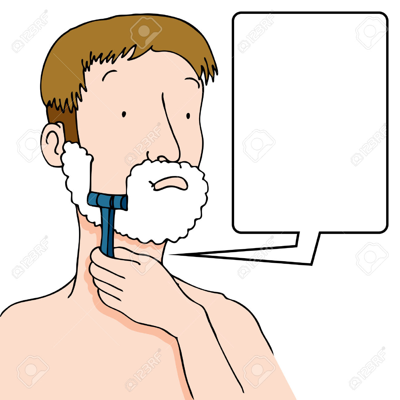 Clipart man shaving.