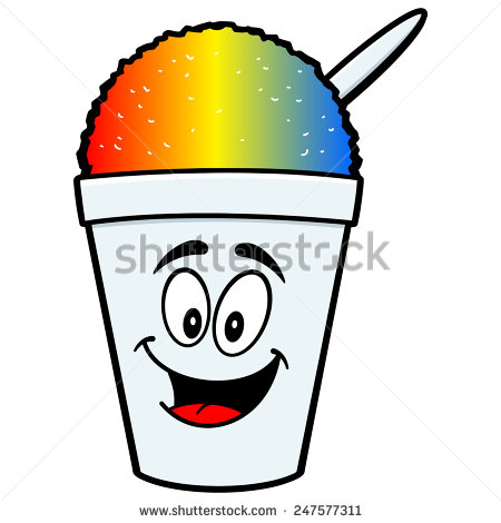 One color shaved ice clipart.