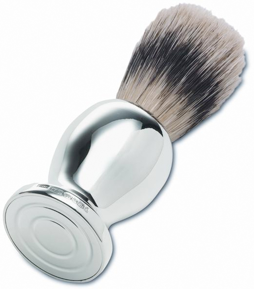 Mens Shaving Brush Hallmarked Sterling Silver (can be personalised).