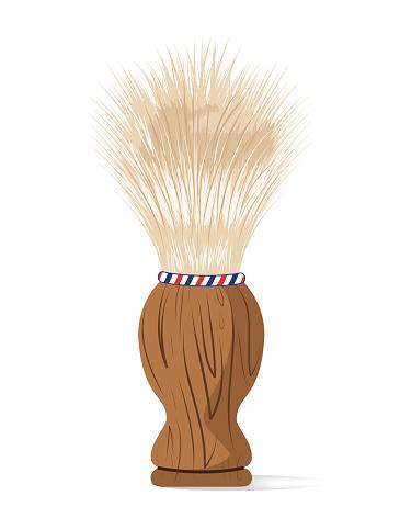 Shaving Brush Vector Clip Art, Vector Images & Illustrations.