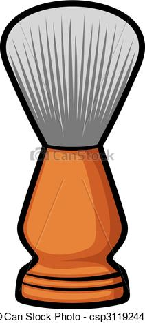 EPS Vector of shaving brush (barber brush) csp31192445.