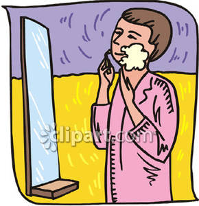 Boy shaving clipart.