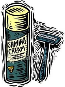 Shaving Cream Clipart.