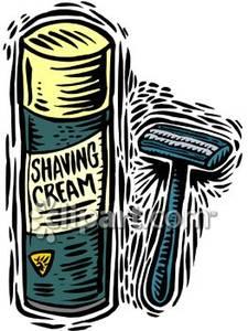 Shaving Cream Clipart.