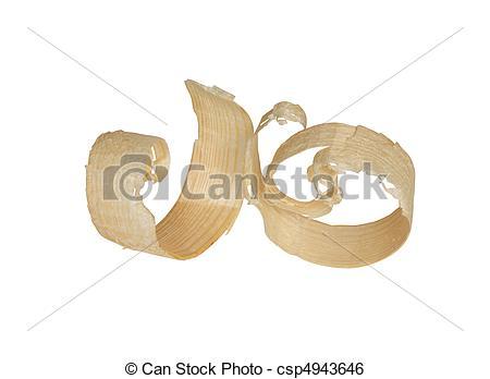 Stock Image of Wood Shavings.