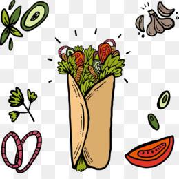 Shawarma Vector PNG and Shawarma Vector Transparent Clipart.