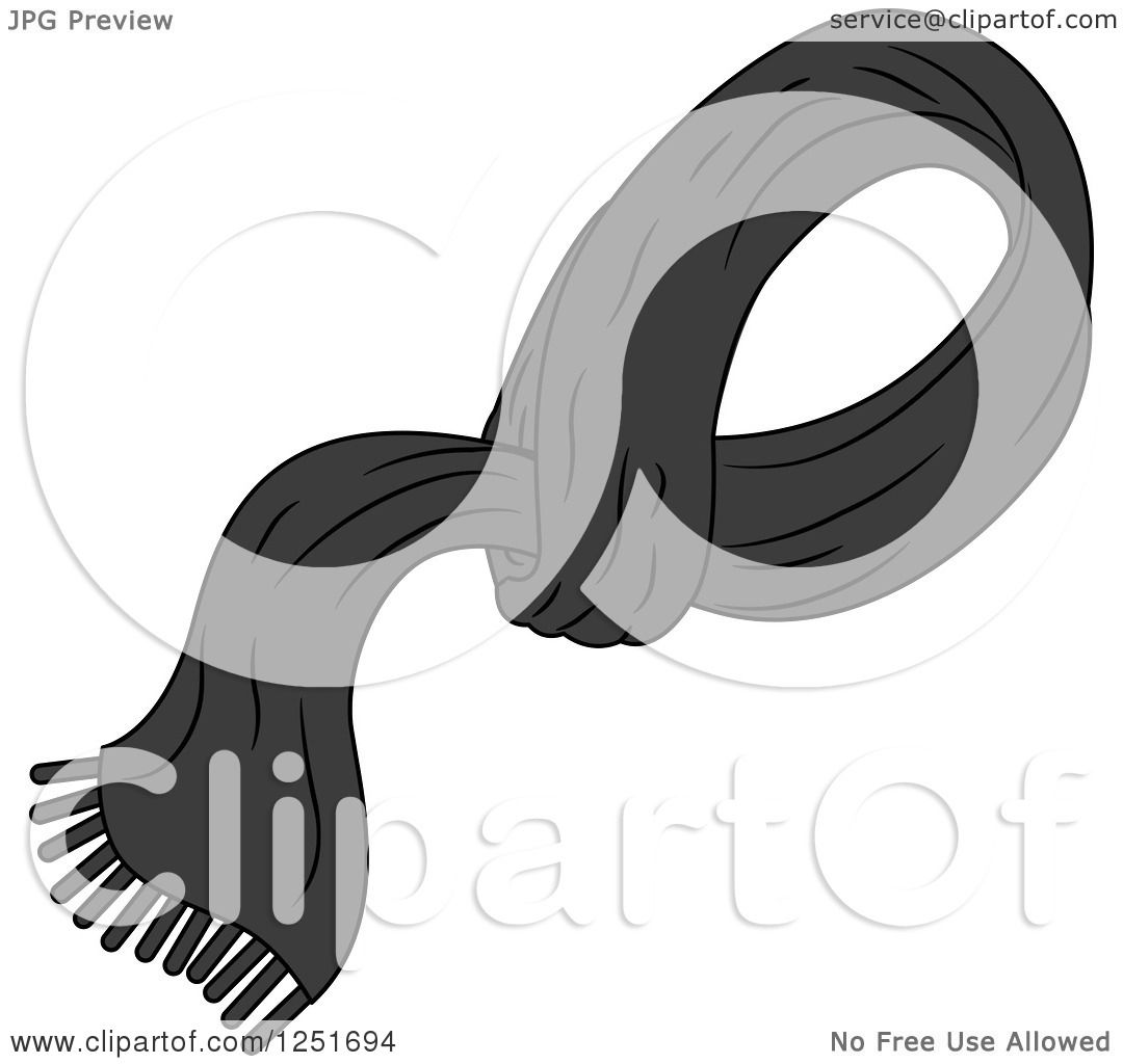Clipart of a Man's Black Shawl.