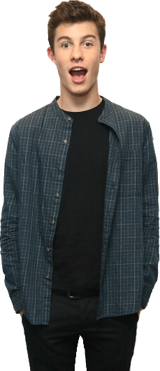Shawn Mendes Surprised transparent PNG.