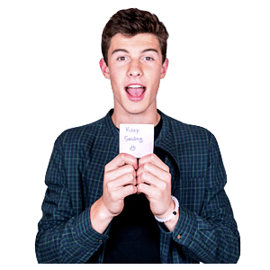 Shawn Mendes Message transparent PNG.