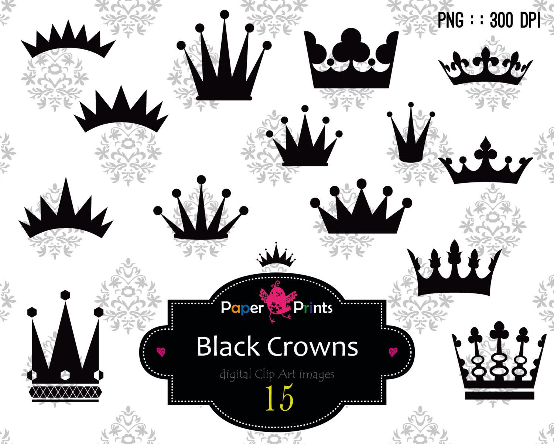 Krone clipart schwarz.