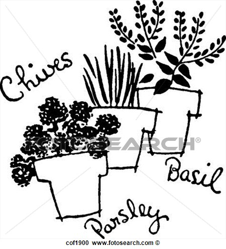 Black And White Spices Clipart.