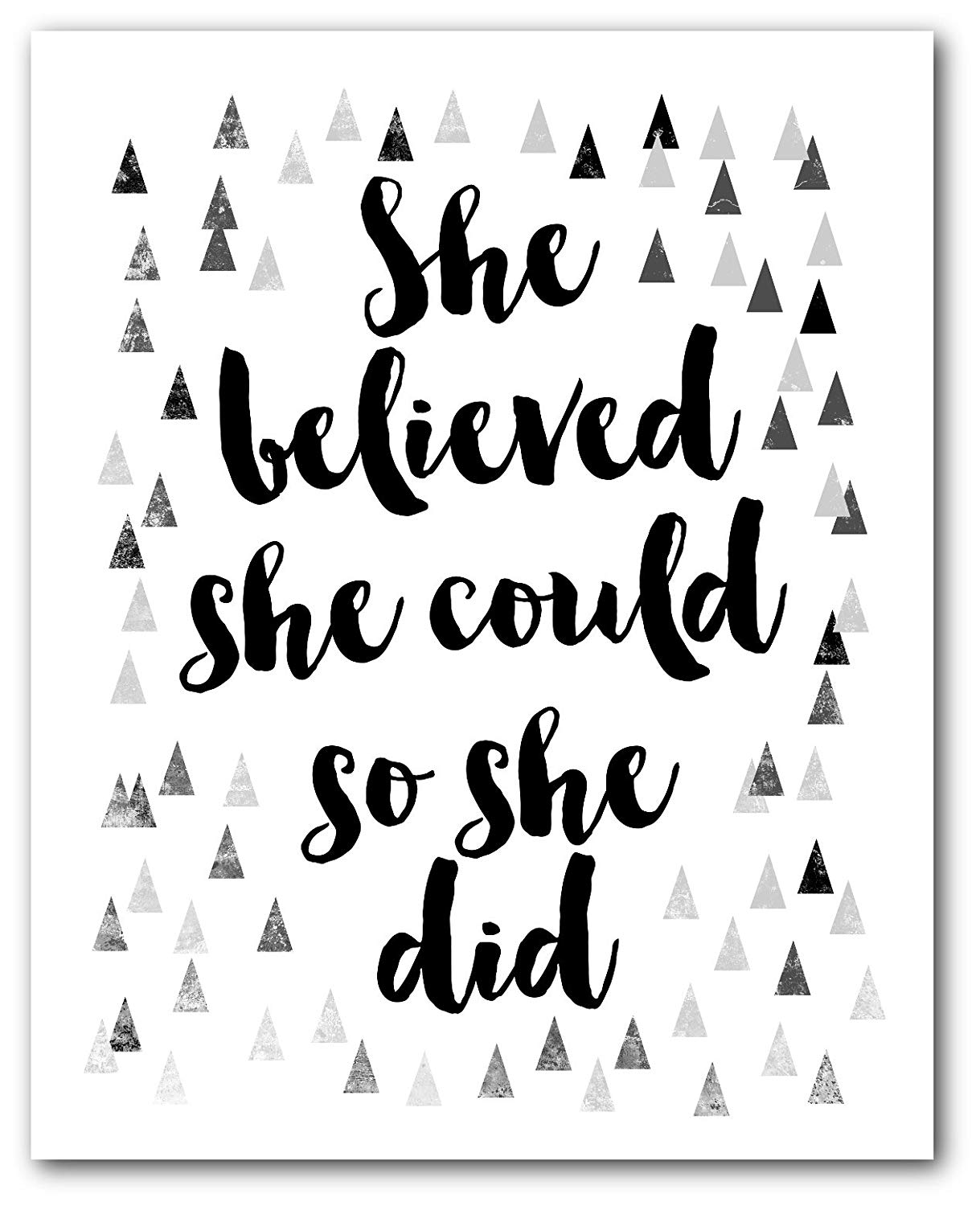 Amazon.com: She believed she could so she did Print, Quote.