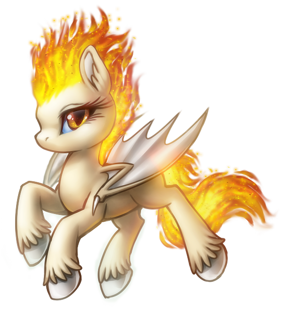 This is flame she has special powers to set fire to anything she.