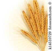Wheat sheaf Clipart and Illustration. 584 wheat sheaf clip art.