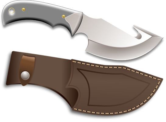 Hunting Knife Clipart.