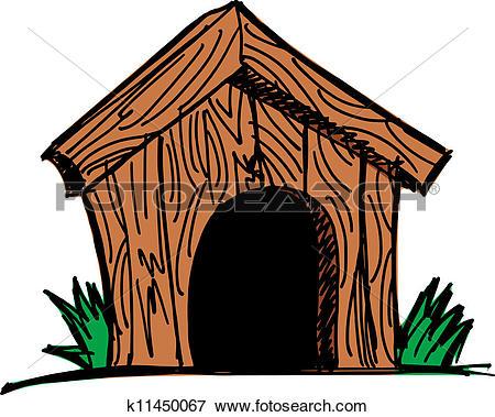 Clip Art of Dog house k11450067.