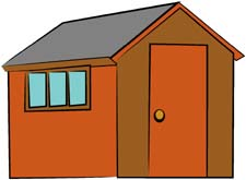 Garden Shed Clipart.